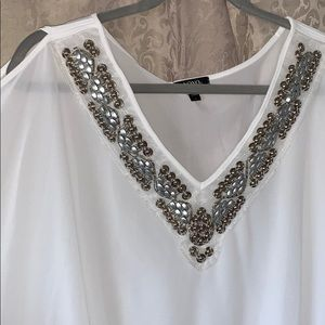 Detailed collared blouse from XOXO SIZE LARGE